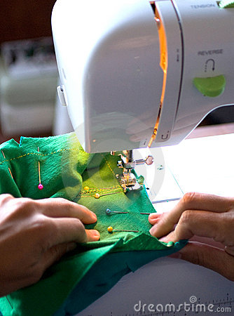 Sewing on a modern machine