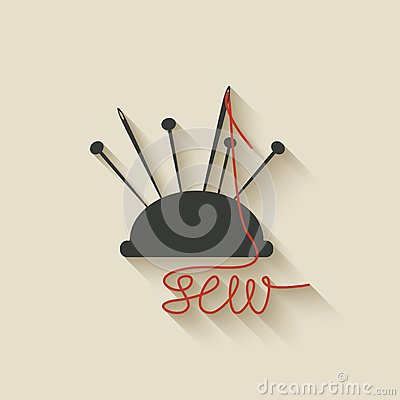 Sewing needles background