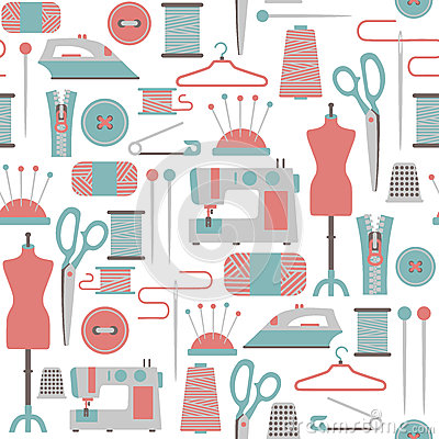Free Sewing Pattern Royalty Free Stock Images - 31520889