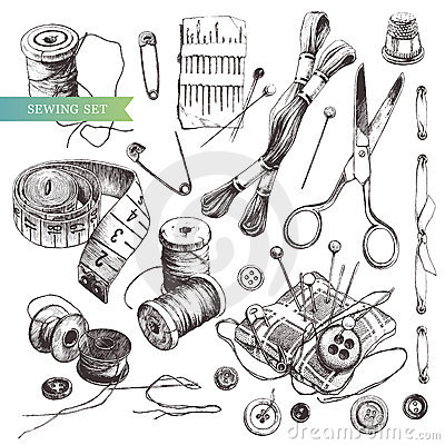 Free Sewing Set. Royalty Free Stock Photography - 23154107