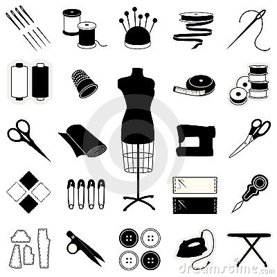 Free Sewing & Tailoring Icons Royalty Free Stock Images - 9157379