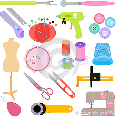 Free Sewing Tools And Handicraft Stock Images - 28137434