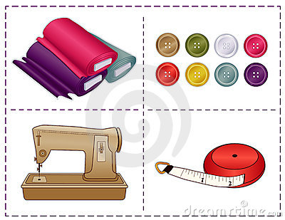 Sewing Tools, Pantone Colors