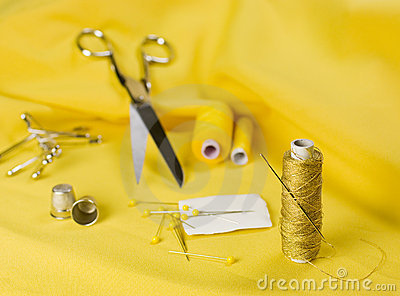 Sewing yellow