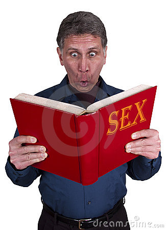 Sex Education, Funny Shocked Man Reading Book