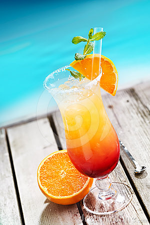 Free Sex On The Beach Cocktail Royalty Free Stock Image - 24347266