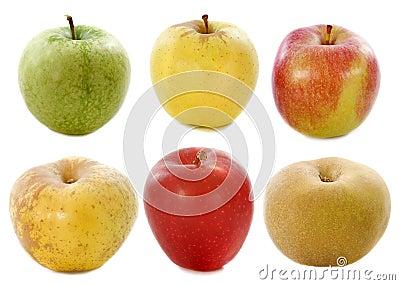 Sex äpplen