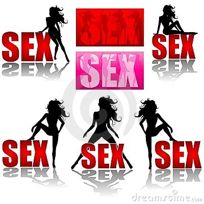 Sex And Sexy Women Logos Stock Image Image 4824821