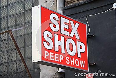 Sex Shop Editorial Image