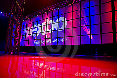 SEXPO - Main Performace Stage Editorial Stock Image