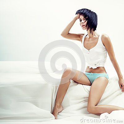 Free Sexual Girl  In Bed Stock Images - 26063924