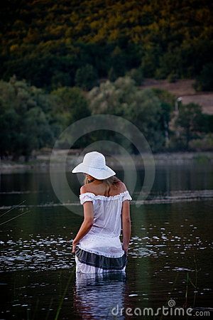 Sexual Girl Posing In Water Royalty Free Stock Photography - Image: 6594407