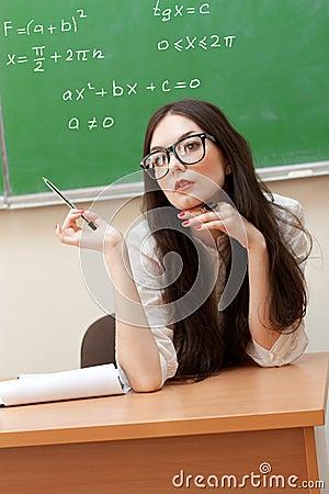 Sexual teacher in classroom