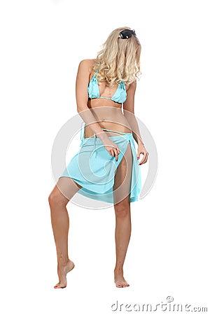 Sexual woman in bikini
