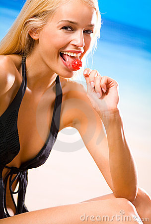 Sexual woman with lollipop