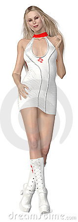 Sexy 3d rendered nurse