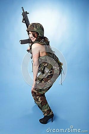 Sexy army woman