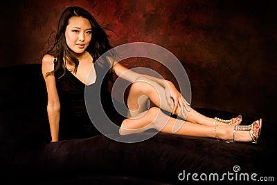 Sexy asian brunette