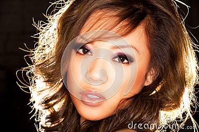Sexy asian girl portrait