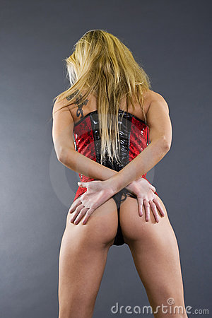 Sexy Back Of A Blond Woman Stock Photos - Image: 12443663