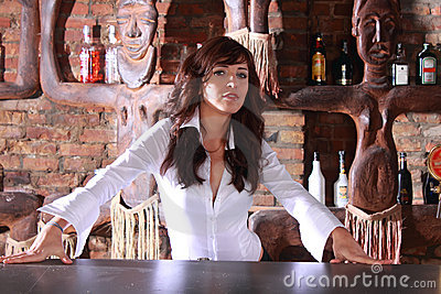 Sexy barmaid