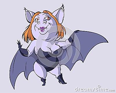 Sexy bat woman