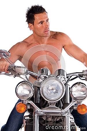 Sexy biker.