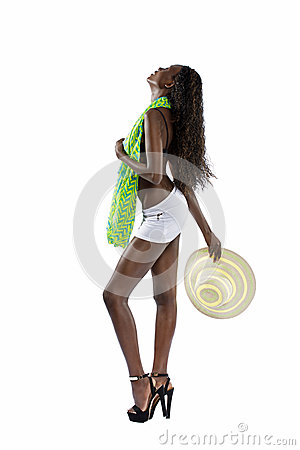 Free Sexy Black Woman In Short Skirt Stock Photography - 30644132