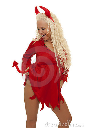 Free Sexy Blond Devil Stock Images - 23080304