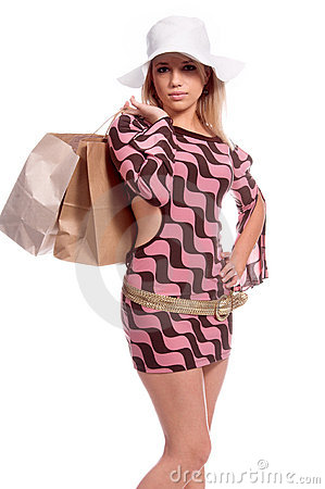 Sexy Blond Shopper