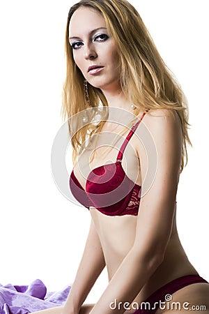Sexy blond slim woman