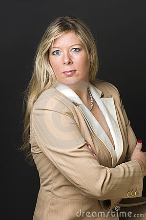 Sexy blond woman corporate head shot