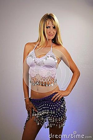 Sexy Blonde Belly Dancer (2)