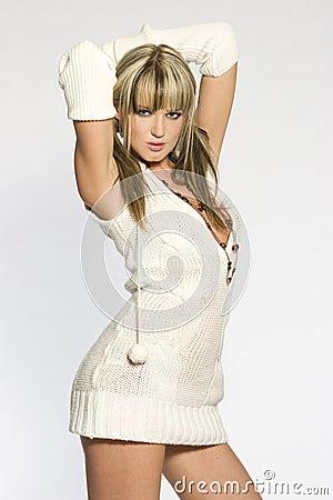 Sexy blonde girl