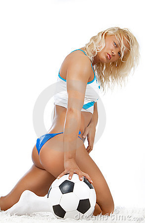 Free Sexy Blonde With Ball Stock Image - 13863421