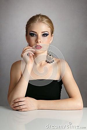Sexy blonde woman portrait