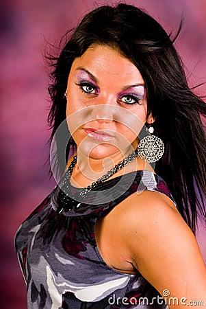 Sexy brunette woman fashion model