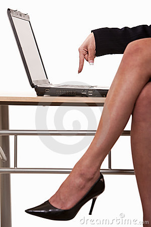 Sexy business woman legs wearing heels