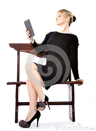 Sexy business woman reader ebook