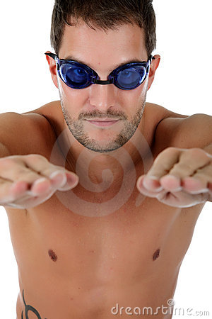 Sexy caucasian athlete swimmer