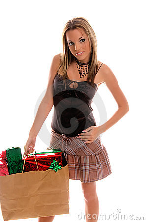 Free Sexy Christmas Shopper Royalty Free Stock Photography - 279947
