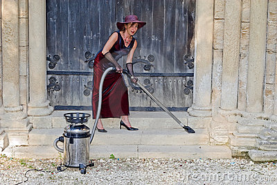 Sexy church woman cleaner