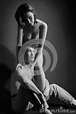 Sexy couple dark