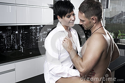 Sexy couple in kitchen royalty free stock photos image for Xnxx in the kitchen