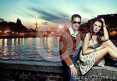 Sexy couple in Paris
