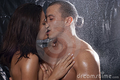Sexy couple in passion