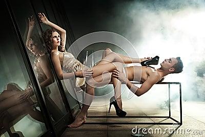 Sexy couple posing