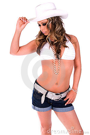 Free Sexy Cowgirl. Stock Image - 3753031