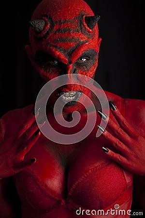 Free Sexy Devil Woman. Royalty Free Stock Photo - 20939995