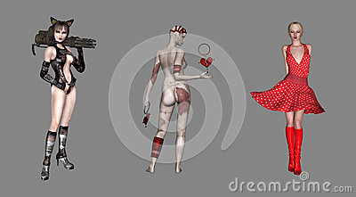 Sexy Digital Characters